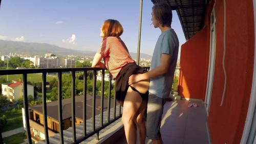 Public Sex On Balcony. Neighbors Were Delighted [FullHD 1080P]