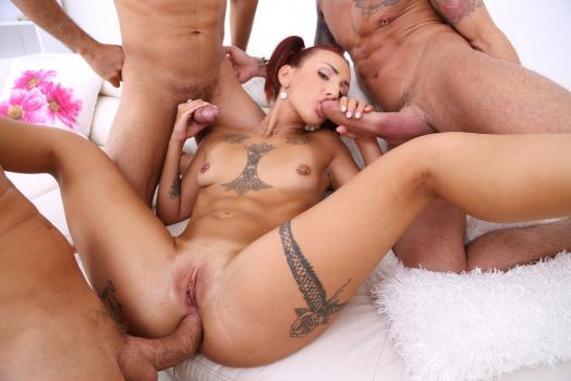 LegalPorno 2019 Bella Morningstar Redhead Assfucked 3on1 In Her First Porn Scene 720p XXX MP4-CLiP