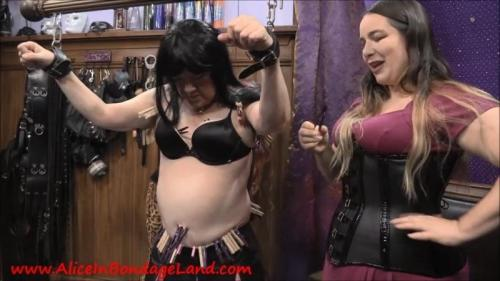 Song Of Suffering – Introducing Dahlia Snow And Jennifer Tickle Torment. Dec 15 2018. Aliceinbondageland.com (879 Mb)