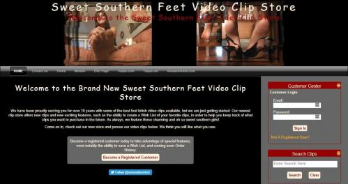 SweetSouthernFeet.com SITERIP